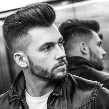 Haircut «Pompadur» in Oldboy Barbershop